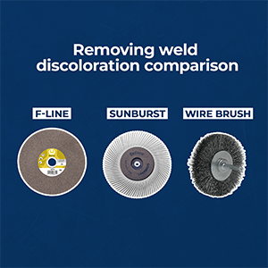 product comparison welding discolorations