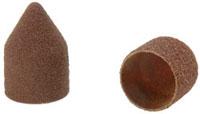Abrasive caps point